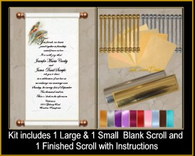 DIY Scroll Invitation Kit