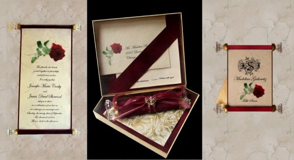 Crystal Wedding Invitation in a decorative box